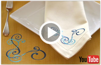 Free video with instructions on how to embroider creative corners.