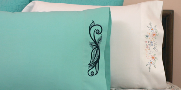 Free project instructions to embroider on pillowcases. & Machine Embroidery Designs at Embroidery Library! - Embroidery Library pillowsntoast.com