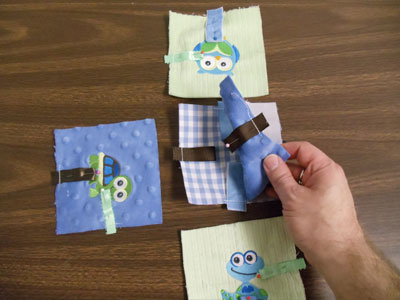 Free project instructions to embroider a minky baby block.