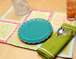 Embroidery Library - Summertime Trapunto Placemat
