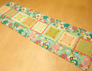Embroidery Library - Summertime Trapunto Table Runner
