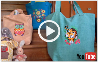Free video with instructions on how to embroider a crafty and classic tote bag.