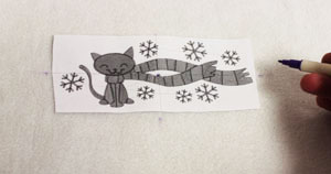 Free project tutorial for a machine embroidery design tie fleece scarf.