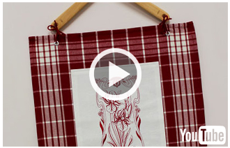 Free video with instructions on how to create a country kitchen wall hanging.