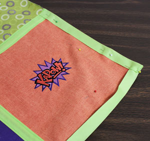 Free project instructions to make a tic tac toe game toss with machine embroidery designs.