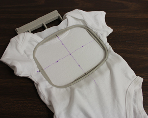 Free project instructions for hooping onesies for machine embroidery