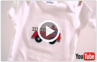 Free video with instructions on how to hoop and embroider onesies.