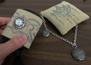 Free project instructions for a chatelaine, or sewing kit you can attach to a belt loop.