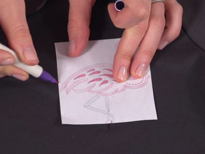 Free project instructions to embroider on micro pique.