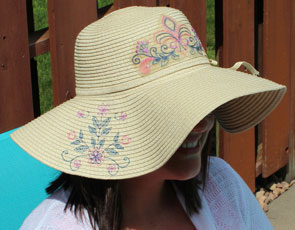 Embroidery Library - Embroidering on Straw Hats