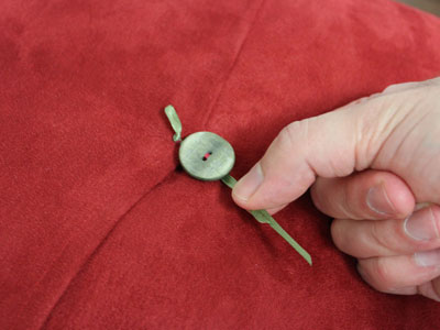 Free project instructions to embroider a crazy for Christmas pillow.