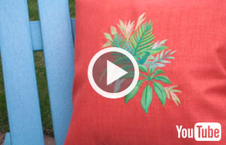 Free video with instructions on how to embroider on outdoor fabric.