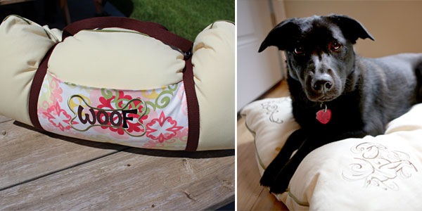 Free project instructions to create a travel pet bed.