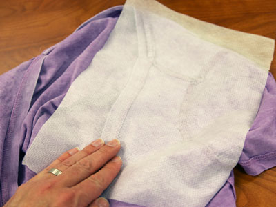 Free project instructions on how to embroider designs on shirt shoulders.