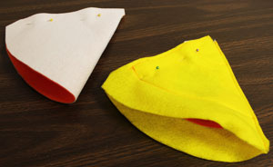 Free project instructions to make a candy corn treat cone.