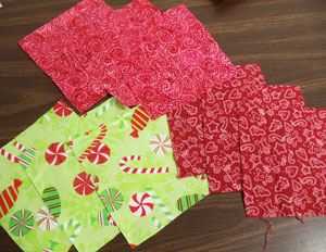 Free project tutorial for a rag quilt apron.