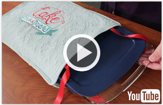 Free video with instructions on how make placemats into a casserole cover.