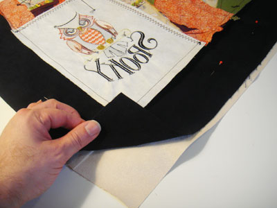 Free project instructions to create a crazy quilt halloween bag.