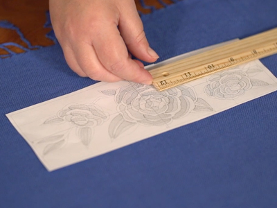 Free project instructions to embroider on pashmina.