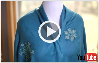 Free video with instructions on how to embroider on pashmina.