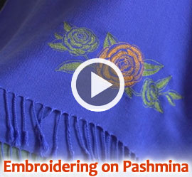 Embroidering on Pashmina Video Tutorial