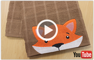 Free video with instructions on how to embroider a towel border with an animal design.