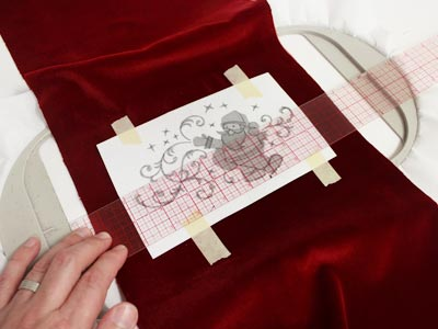 Free project instructions to make a Santa's Bolster Pillow.