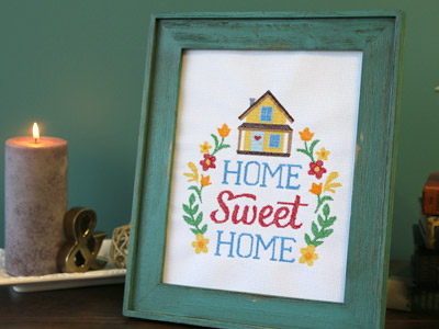 Free project instructions on how to embroider cross stitch designs.