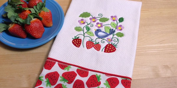 Free Project Instructions To Embroider A Letu0027s Dish Kitchen Towel. Design