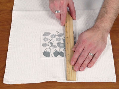 Free Project Instructions To Embroider A Letu0027s Dish Kitchen Towel.