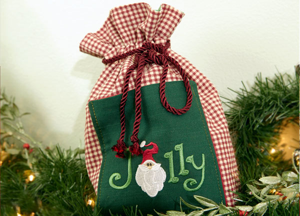 Free project instructions to make a Christmas Cookie Gift Bag.