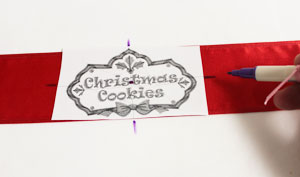 Free project instructions to make an embroidered ribbon wrap