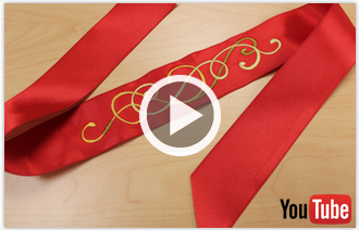 Free video with instructions on how to embroider on ribbon.