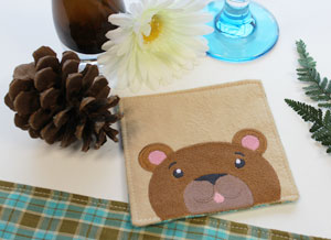 Free project instructions to make an embroidered coaster