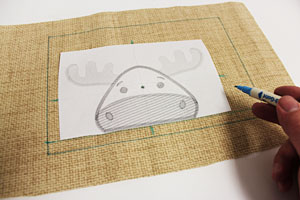 Free project instructions to make an embroidered placemat