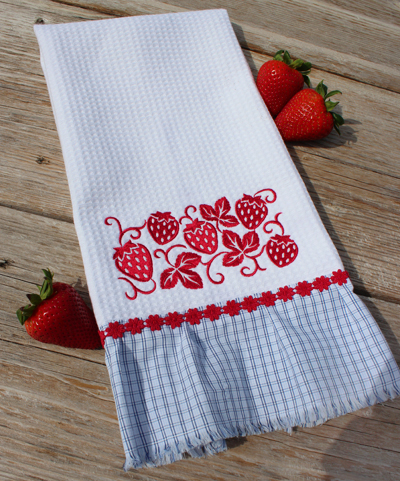 Free Project Instructions To Make An Embroidered Dish Towel Part 18