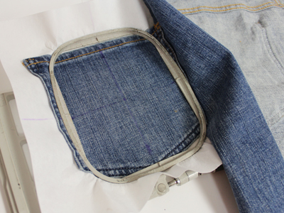 Free project instructions to create an in-jean-ious apron.