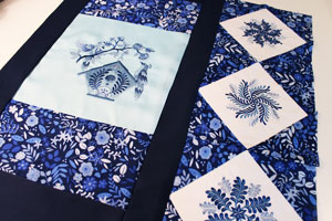 Free project instructions to make a quilted table topper