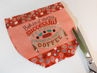 Free project instructions to create a hug in a mug coffee coaster.