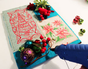 Free project instructions to make a Christmas shadow box