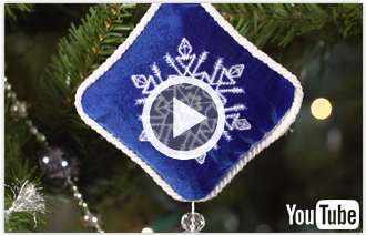 Free video with instructions on how to embroider vibrant velvet ornaments.