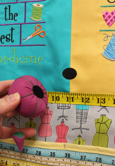 Free project instructions to make a crafty catch-all door hanger.