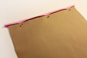 Free project instructions to make a storage sack for your sewing chair