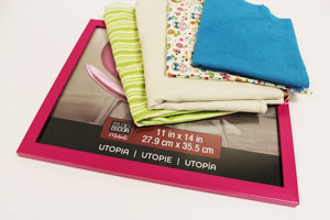 Free project instructions to make a framed desk organizer!