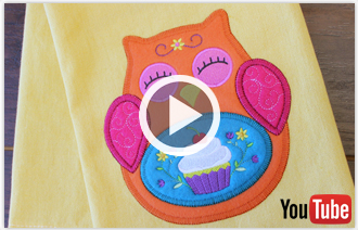 Free video with instructions on how to embroider multi-piece heirloom applique designs.