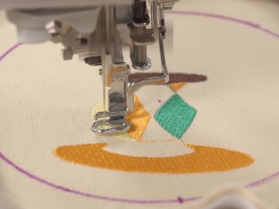 Free project instructions on framing with hand embroidery hoops.