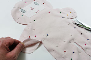 Free project instructions to make a soft rag doll (boy)!