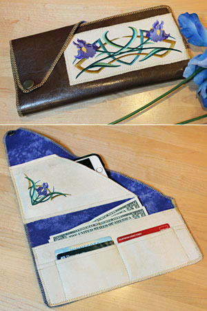 Free project instructions to make a roll-up wallet!