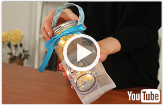 Free video with instructions on how to embroider a mason jar wrap.