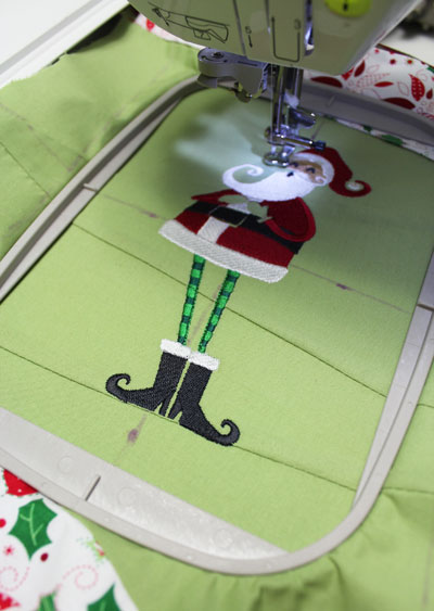Free project instructions to create a scrappy Christmas stocking!